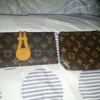 REPRICED!!! REPLICA COMBO LV WALLET AND POUCH