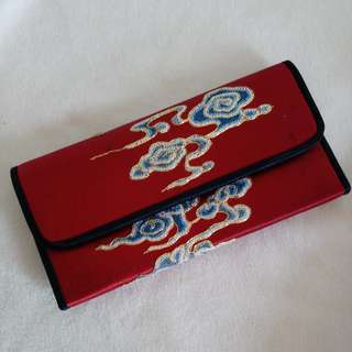 中國風 繡花 長夾