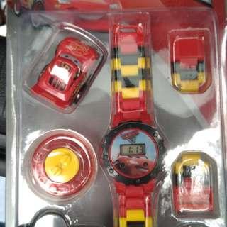 閃電麥坤cars樂高手錶