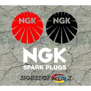 "Custom ""NGK"" Diecut vinyl decal-No Background"