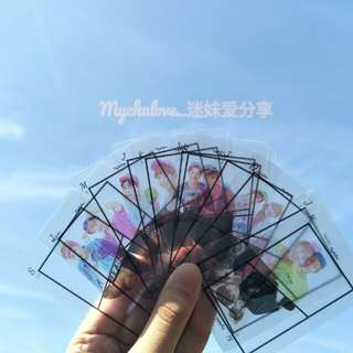 Wanna one poker transparent card