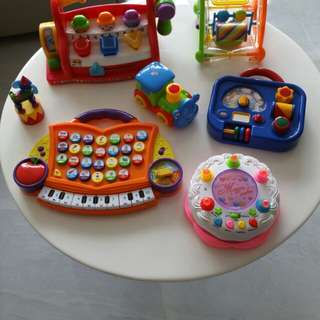 3 pages of Assorted toys, leap frog, Fisher price and more