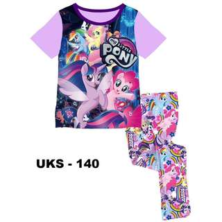 Little Pony Short Sleeve Pyjamas For (2 Yrs To 7 Yrs)