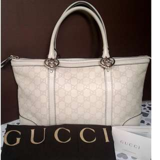 Genuine Gucci Leather Tote Bag