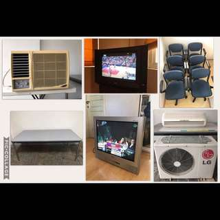 2 LG TVs, 2 Aircon Units, 6 Conference Chairs, 1 Conference Table (ALL ITEMS FOR ONLY 22K)