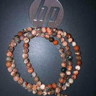 彩珠链 长 64mm,珠粒6-7mm左右