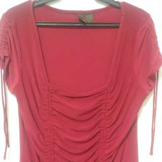 Red Velvet Blouse