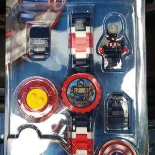美國隊長樂高手錶