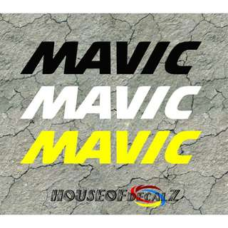 "Custom ""Mavic"" Diecut vinyl decal-No Background"