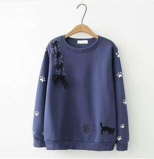 Mega Sweater Navy, Grey