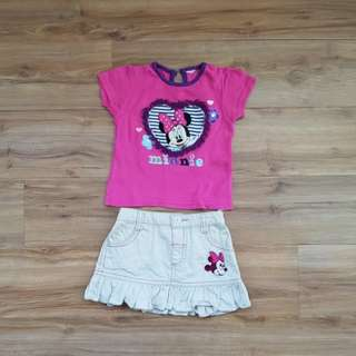 Minnie top & skirt