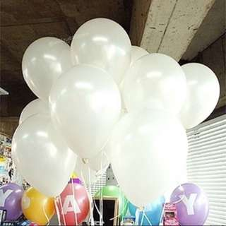 PEARL LATEX HELIUM BALLOON (WHITE)