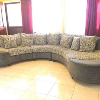 Beautiful Curved Sectional Sofa Set By Mandaue Foam