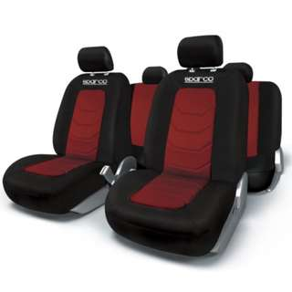 Sparco Seat Cover SPC1019RS-(Red/Black)