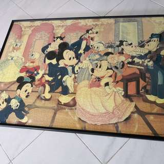 Puzzle with frame Disney