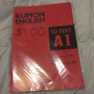 Kumon English practice