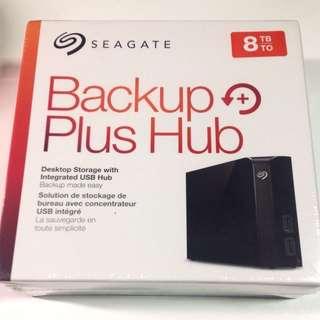 Seagate 8TB Backup Plus Hub External Desktop Hard Drive Storage For PC & Mac New