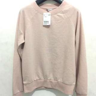 H&m basic sweatshirt pink