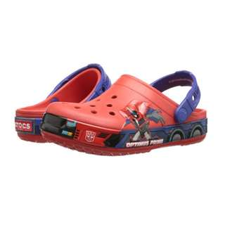 SALE!! BRAND NEW crocs Boys' CB Transformers Optimus Prime Clog