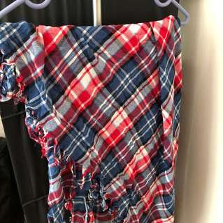 Red and Blue checker scarf 紅藍格仔頸巾