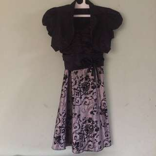 Silver Black Midi Dress