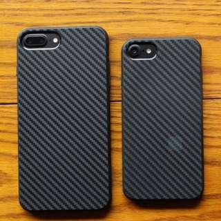 iPhone 7 and 7 Plus (7+) Carbon Fiber Rubberized Case