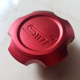 Red STI Oil Cap