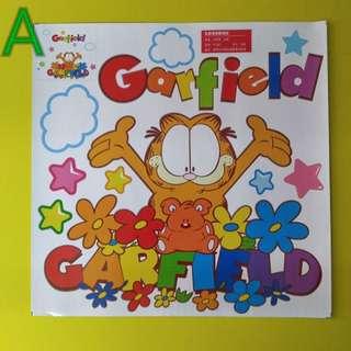 加菲貓牆身(專用)貼紙或平滑面、每張