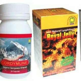 Lechitin,cordimun,natural royal jelly dan curcumed