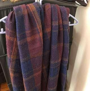 Checker scarf 格仔頸巾