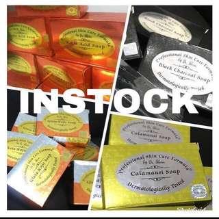 Soap-by Dr.Alvin PSCF(Black Charcoal ,Kojic Acid ,Glutakojic , tea tree,Glycolic,Premium Whitening & Calamansi)