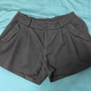 灰厚棉短褲