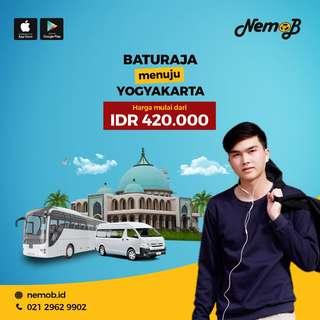 Jual Tiket Bus Baturaja - Jogja Via Bukit Kemuning Hanya 420rb di Nemob.id