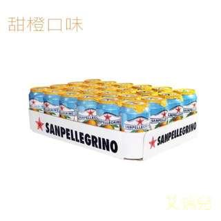 San Pellegrino 氣泡水果飲料 330毫升 X 24罐