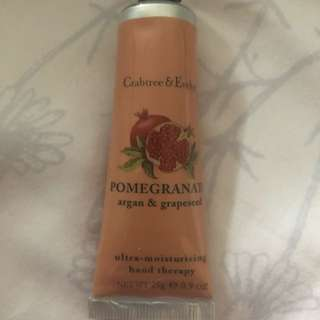 New Crabtree & Evelyn Hand Cream POMEGRANATE argan & grapeseed