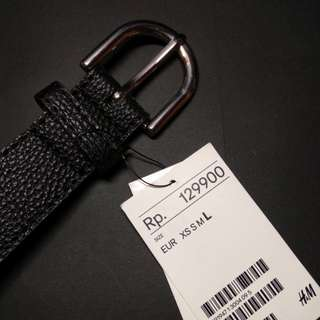 H&M belt/ikat pinggang synthetic leather hitam