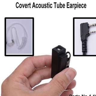 Air Acoustic Tube Headset Earpiece Walkie Talkie for Baofeng UV5R