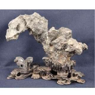 靈壁奇石連原配精彫座