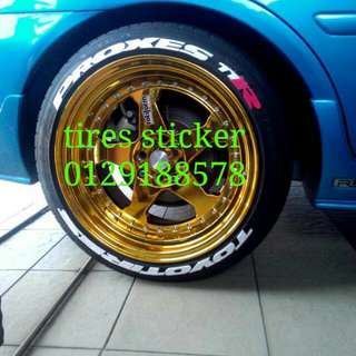 Tires Sticker