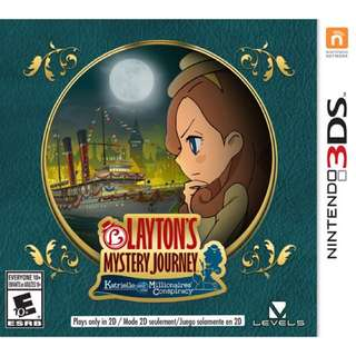 Layton's Mystery Journey: Katrielle and the Millionaire's Conspiracy 3DS