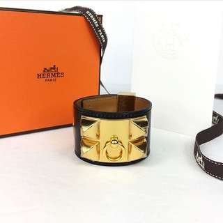 Hermes CDC Cuff in Black & Gold
