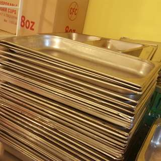 Stainless steel buffet food tray
