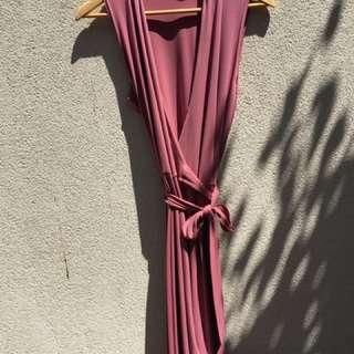 Ojay pink wrap dress