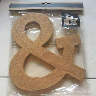 Brand New Ampersand & Cork Board