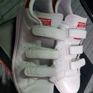 Adidas Stan Smith (3 straps) whute and red size 10US USED