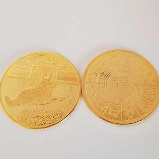 Cny Dog Year Gold Medallion Coin
