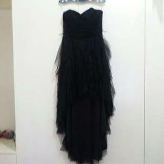 Strapless Black Ball Gown
