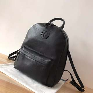 Tory Burch Black Leather Ella Backpack