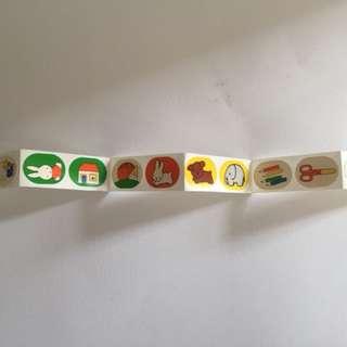 Miffy Dick Bruna vintage 絕版貼紙 27枚