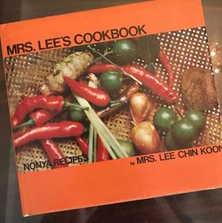 Mrs. Lee's cookbook
